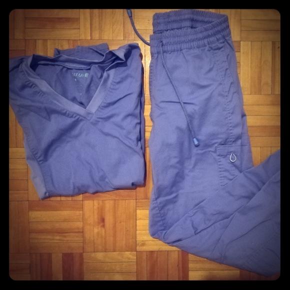 Allure Other - Uniforme d'infirmière (scrubs) bleu S